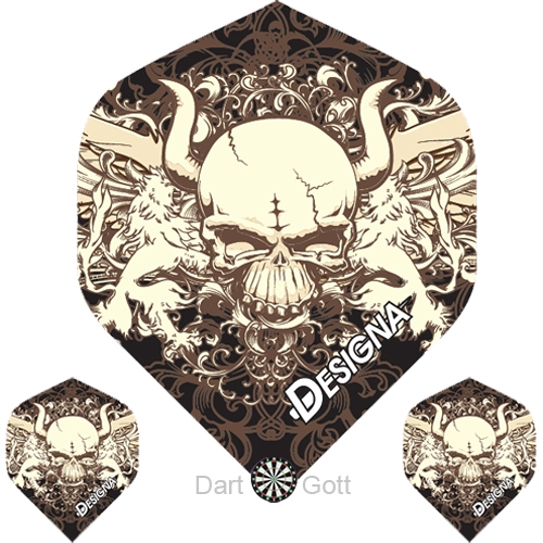 Designa Dartflights - Horned Skull