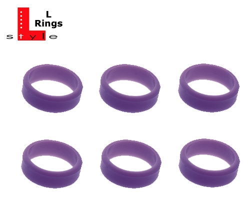 6 L-Style Dartshaft L-Rings purple