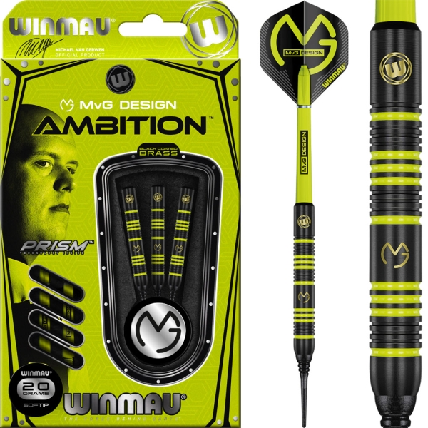 Winmau MvG Ambition Softdarts - 20 gramm