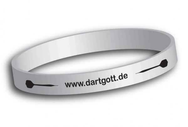 Dartgott Silikon Dart Armband - weiß