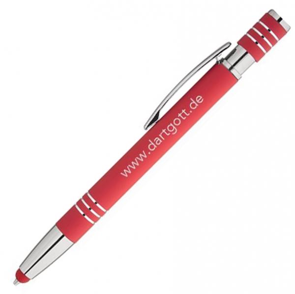 Dartgott Touch Pen Kugelschreiber rot
