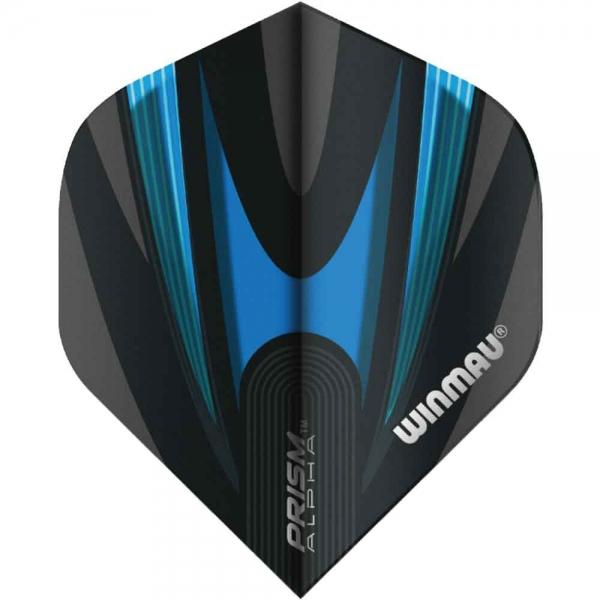 WINMAU Prism Alpha Flights - Black & Blue