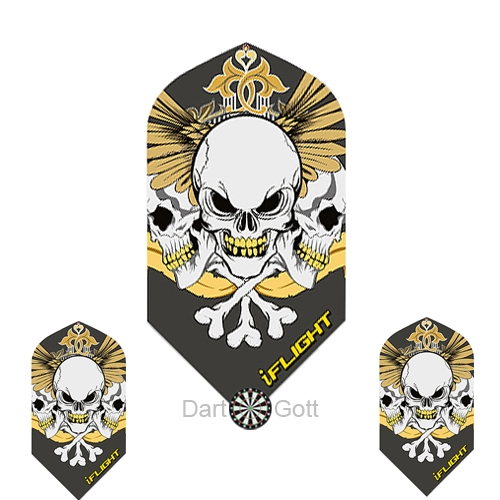 Skull-Dartflights-Slim-Designa