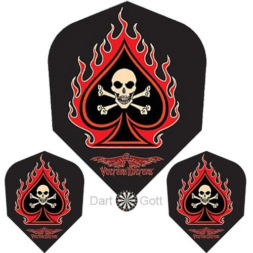 Dart Flights Standard - Flame Skull