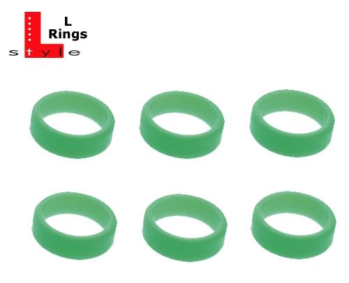 6 L-Style Dartshaft L-Rings lime green