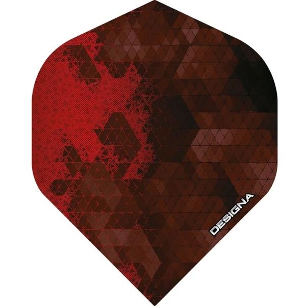 Designa DSX Rock Flights Standard - Rot