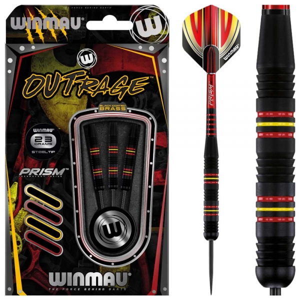 Winmau Outrage Steeldarts 3Grip
