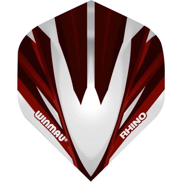 Winmau Rhino Standard Flights Silver Red