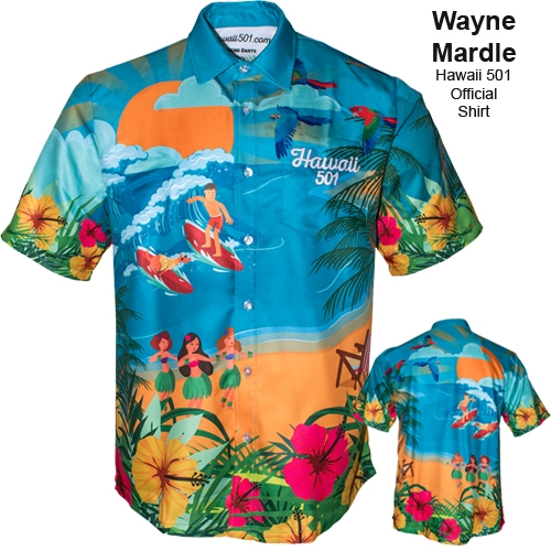 Wayne Mardle Dart Shirt - Hawaii 501