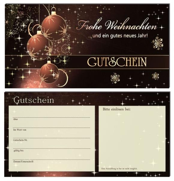 Dart Gutschein Geschenkidee Weihnachten bronze
