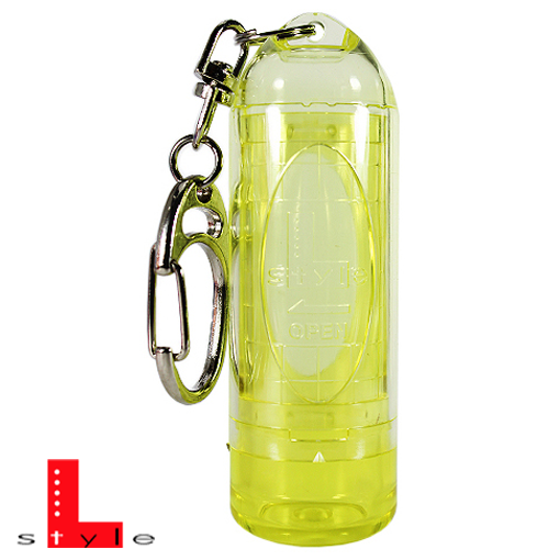 L-Style Dartspitzen Case clear - yellow