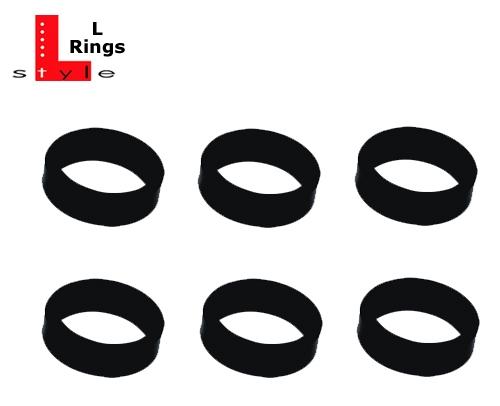 6 L-Style Dartshaft L-Rings black